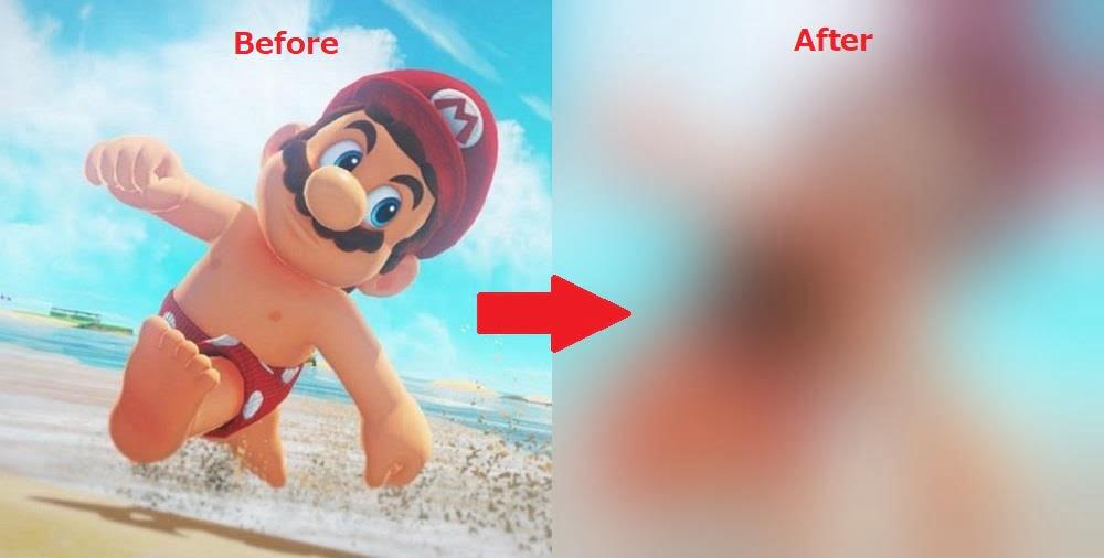 【スーパーマリオオデッセイ】マリオの裸がつるつるすぎてイタリア人激怒→とんでもないコラ画像を作ってしまうwwwwww