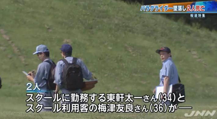 群馬・みなかみ町でパラグライダーの墜落事故 東軒太一さんと梅津友良さん死亡