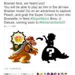 【警告】クッパ姫、公式化するとのデマ拡散 この米任天堂アカウントは偽物です