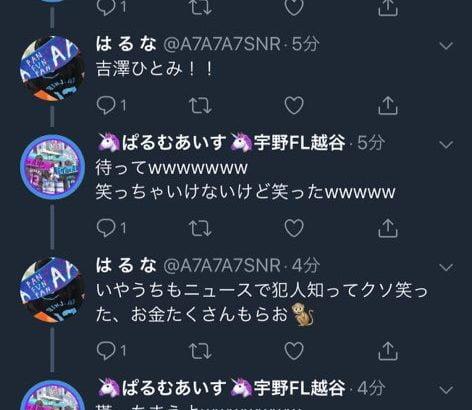 【炎上】吉澤ひとみのひき逃げ被害者・はるな、ツイッターを全て削除してしまう