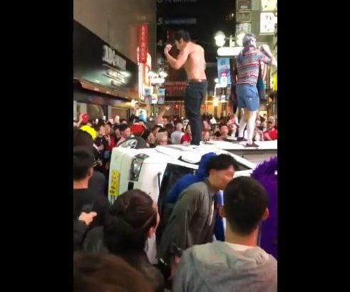 【渋谷ハロウィン】軽トラ横転事件の動画流出!犯人特定も時間の問題か