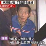 神奈川区・大口通商店街 通り魔事件の犯人逮捕!防犯カメラ映像で浮上