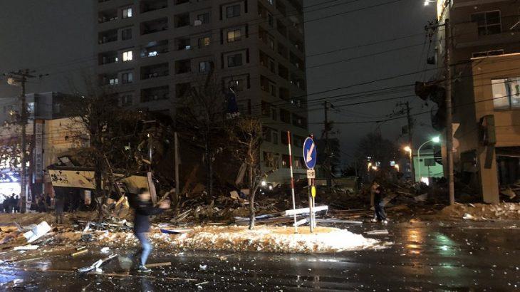 【原因は?】札幌市豊平区で爆発事故!アパマンショップや海さくら倒壊