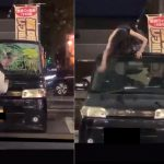 【バカッター炎上】女さん、車に落書き→警察呼ばれ慌てて消す