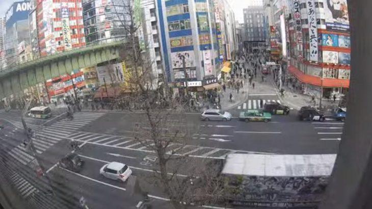【放送事故】秋葉原のライブカメラで人身事故が生中継される