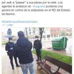 【ロックダウン】スペインで金魚と散歩した男逮捕!ペットと認められず