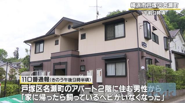 【アパート場所特定】ニシキヘビが逃げたのは戸塚区名瀬町のどこ?