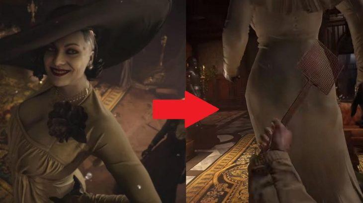 【変態は世界共通】「バイオハザード ヴィレッジ」のドミトレスク夫人の尻をハエたたきで叩くMODがヤバイ!YouTubeのバイオ8動画で2番目に再生される